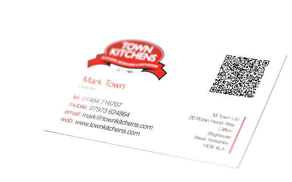 Business Card with QR Barcode