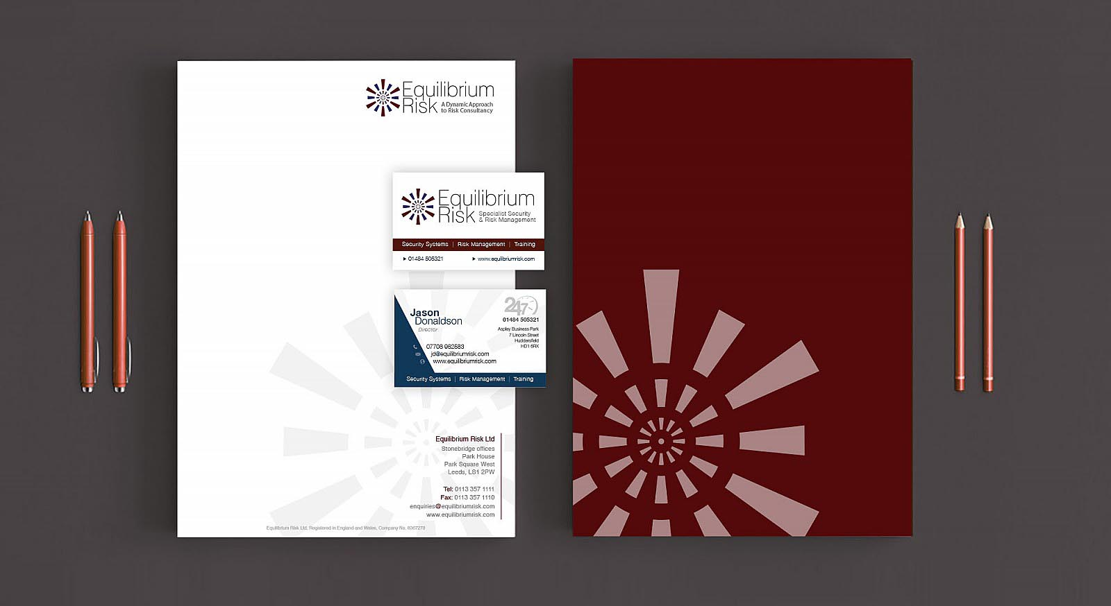 Equilibrium Risk Letterhead and Business Cards