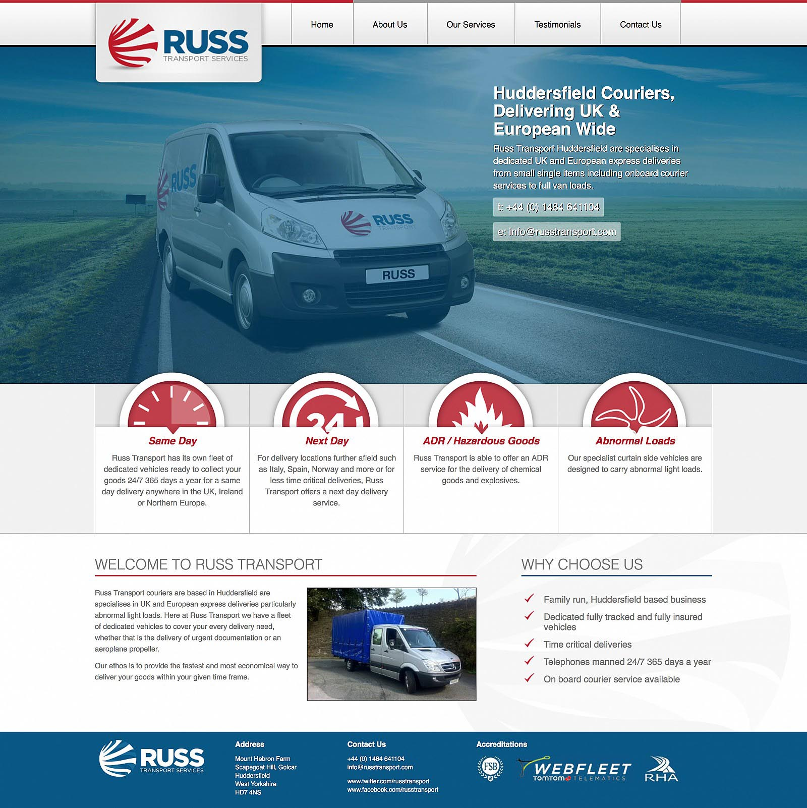 Russ Transport - Home Page