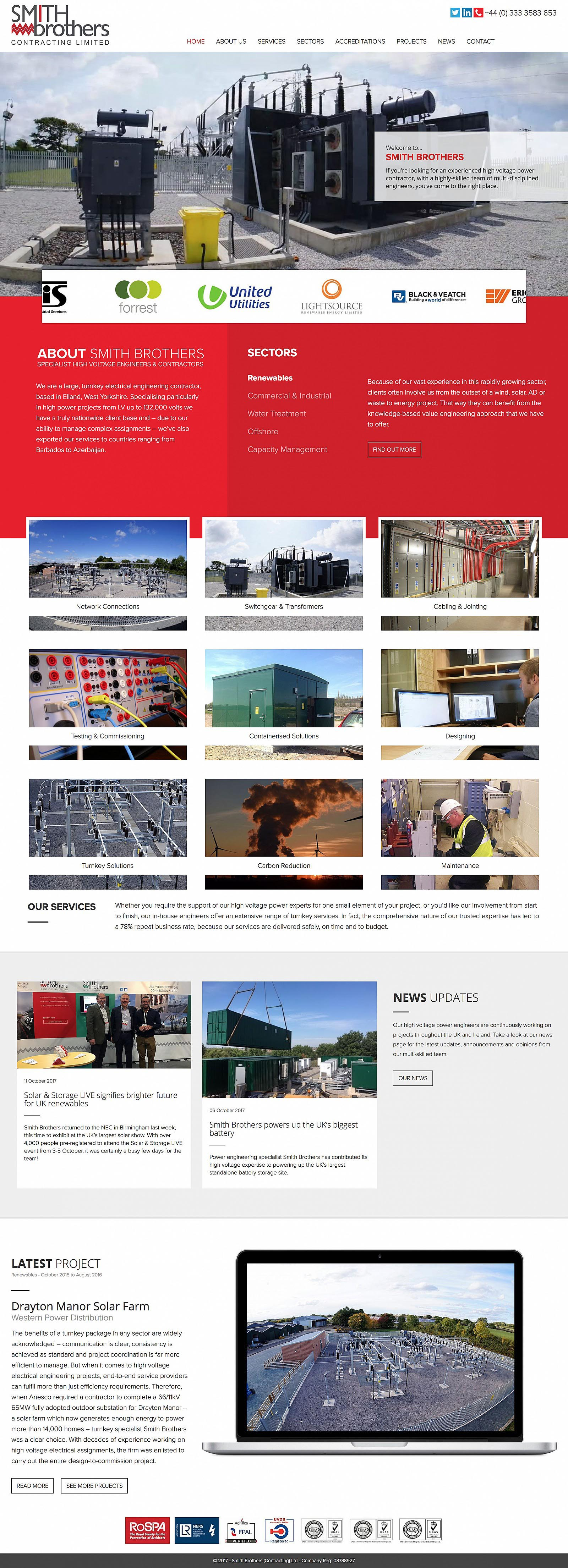 Smith Brothers ltd Website