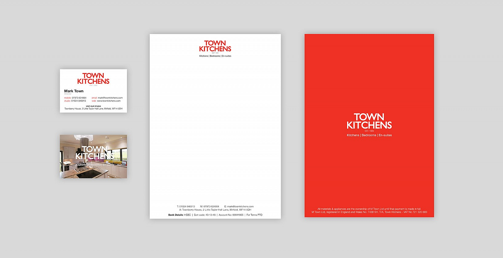 Town Kitchens letterheads