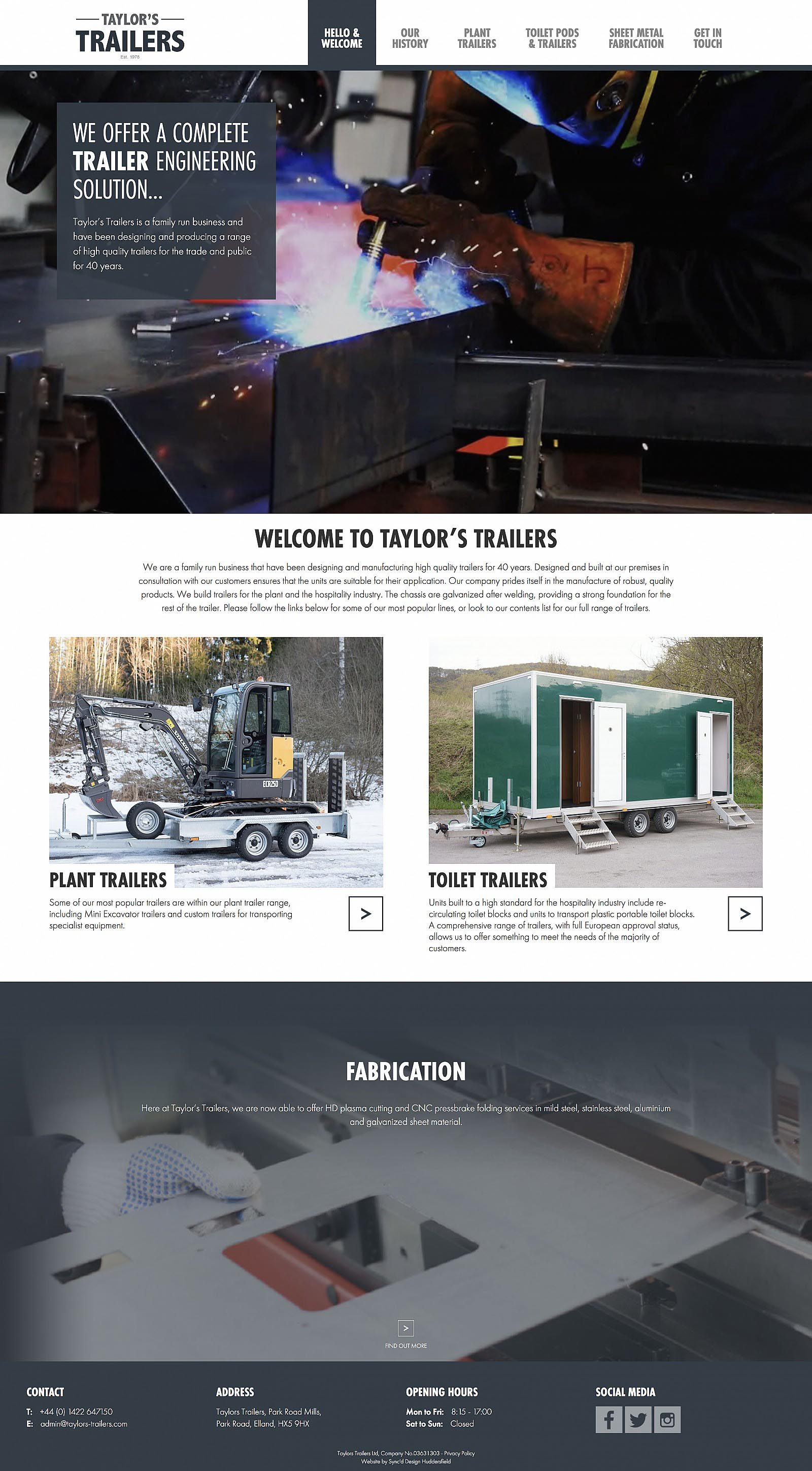 Taylors Trailers Home Page