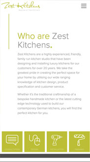 Zest Kitchens Mobile Friendly