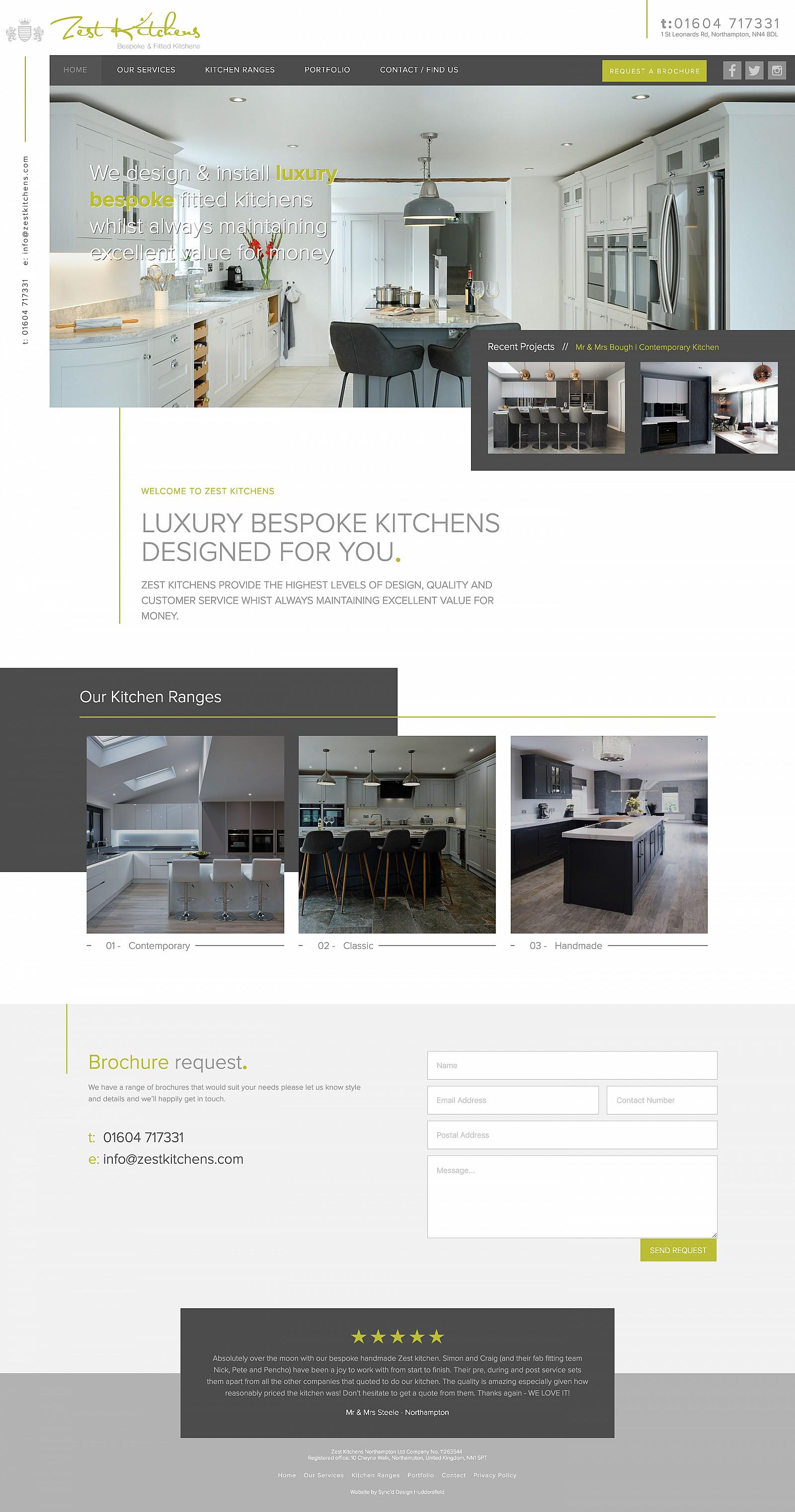 Zest Kitchens Home Page